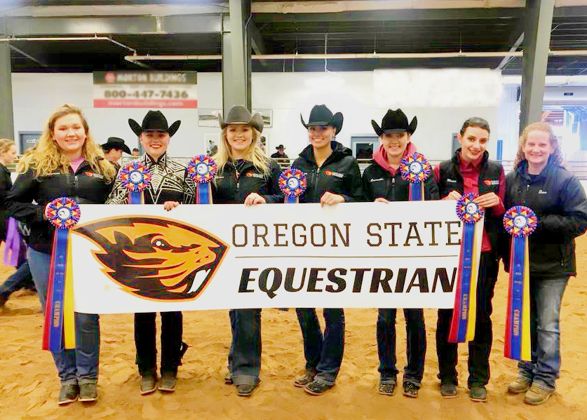 Oregon State Equestrian Team and Coach Dawn Ross won the championship at the Semi-Finals hosted by Alfred University_EDIT