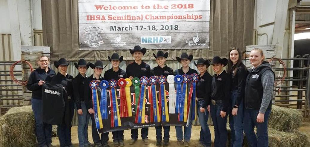 NATIONALS-BOUND TEAMS AND INDIVIDUALS DETERMINED AT IHSA WESTERN SEMI-FINALS, SPONSORED BY NRHA